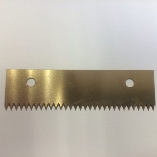 TiN coated serrated packaging knife